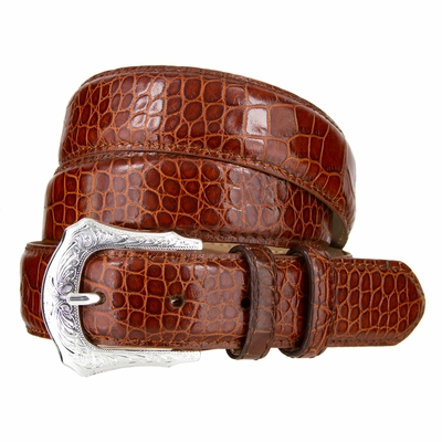"NEW!!! 1712 Western Dress Italian Calfskin Leather Belt - 1 1/4"" Wide"