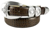 NEW!! 2043 Longhorn Steer Stars Leather Western Belt