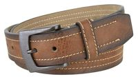 "2076 Men's Vegan Leather Casual Belt - 1 1/2"" Wide"