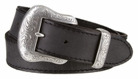 "NEW!!! 2110 Western Antique Silver Cowhide Belt - 1 1/2"" Wide"
