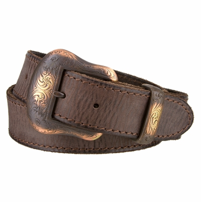 "NEW!!! 2111 Western Copper Cowhide Leather Belt 1 1/2"" Wide"