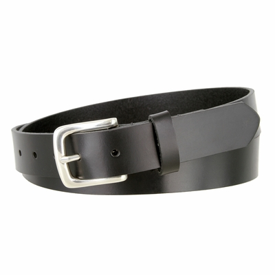 """NEW!!! 2545 Dress or Casual One Piece Smooth Finish Leather Belt - 1 1/8"""" Wide BLACK"""