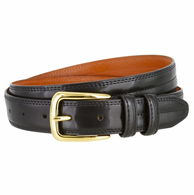 "NEW!!! 2923 Center Stitched Dress Genuine Leather Belt - 1 1/8"" wide - 4 Colors Available"