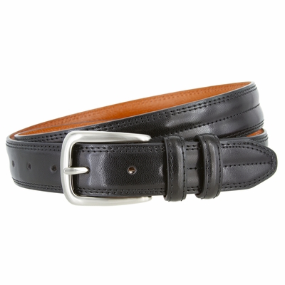 "3103 Center Stitched Dress Belt - 1 1/8"" wide - 4 COLORS AVAILABLE"