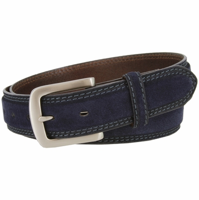 "3218 Suede Casual Dress Leather Belt - 1 3/8"" wide"