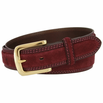 "3220 Suede Leather Casual Dress Belt - 1 3/8"" wide"