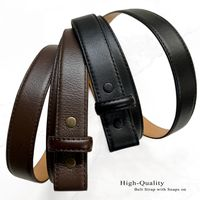 """NEW!!! 3273 Smooth Leather Belt Strap - 1"""" Wide NO HOLES - Perfect for Compression or Slide Buckles - 2 COLORS AVAILABLE"""