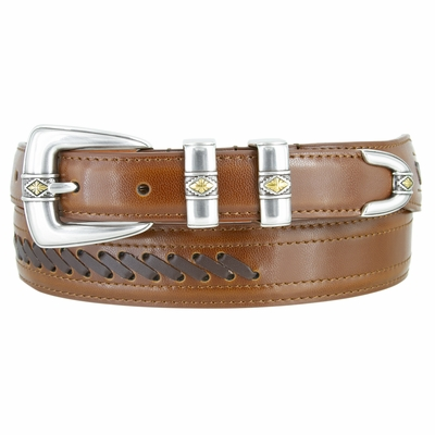 NEW!! 3388 Cowboy - Western Lacing Dress Leather Belt