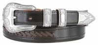 NEW!! 3396 Cowboy - Western Leather Dress Lacing Belt