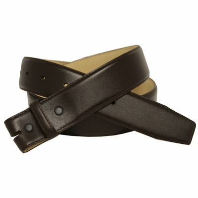 "NEW!!  3886 Smooth Calfksin Leather Belt Strap 1 1/2"" WIDE - BROWN"