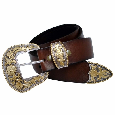 "NEW!! 3901 Western Buckle Full Grain Leather Belt 1 1/2"" Wide"