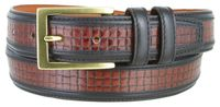 "NEW!!! 4239XL Contemporary Design  Embossed  Dress Casual Leather Belt - 1 1/4"" wide"