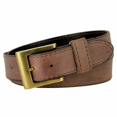 "4419 Casual Full Grain Leather Belt - 1 1/2"" WIDE - 4 Colors Available"