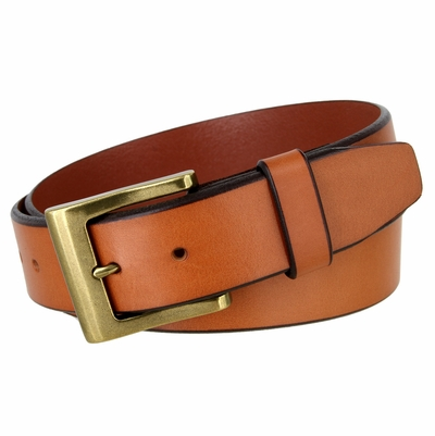 "NEW!!! 4425 Casual Leather Feather Edge Belt - 1 1/2"" wide - 3 COLORS AVAILABLE"