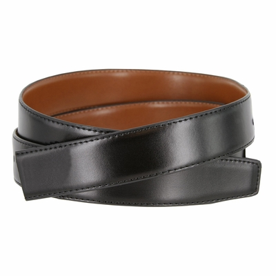 "NEW!! Genuine Leather  Reversible Strap BLACK/TAN - 1 1/8"" WIDE"
