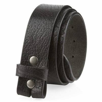 "NEW!!20181  Made in U.S. Full Grain One Piece Leather Belt Strap - 1 1/2"" Wide BLACK"