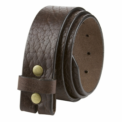 "NEW!! 20182 Made in U.S. Full Grain One Piece Leather Belt Strap - 1 1/2"" Wide BROWN"
