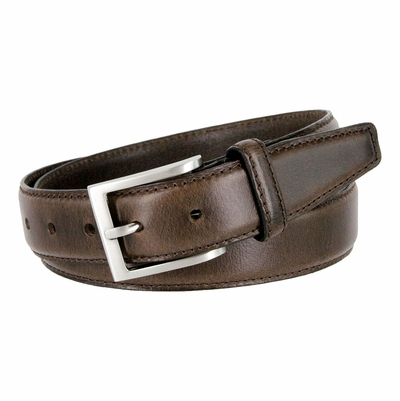 "BS33 Oil-Tanned Genuine Leather Dress Belt 1-3/8"" Wide -  BROWN"