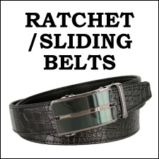 RATCHET/SLIDING LEATHER BELTS