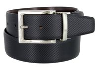 "RS5 Men's Reversible Leather Dress Casual Belt 1-3/8"" wide - Black/Brown"