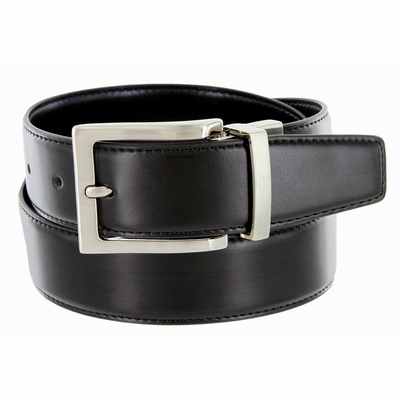"RS7 Men's Reversible Leather Dress Belt - 1 3/8"" BLACK/BROWN"
