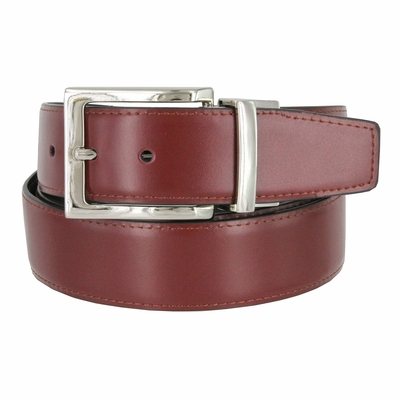 "RS7 Reversible Genuine Leather Dress Belt - 1 3/8"" wide"