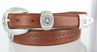 State of Texas Seal Western Dress Leather Belt - FINAL SALE
