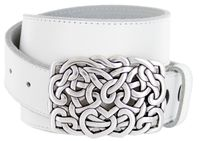 6550 Tie up Heart Belt Buckle Casual Jean Leather Belt - 1 1/2""