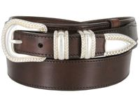 "1032 Traditional Ranger Full Grain Leather Belt - 1 1/2"" Wide - Billet 1"" - BROWN"