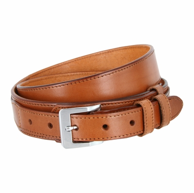 "1024 Traditional Ranger Full Grain Smooth Leather Belt - 1 1/2"" - 1"" Wide TAN"
