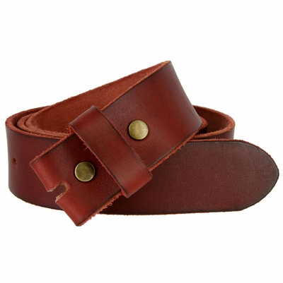 "5040 Vintage Full Grain Leather Belt Strap 1 1/2"" Wide - BURGUNDY"