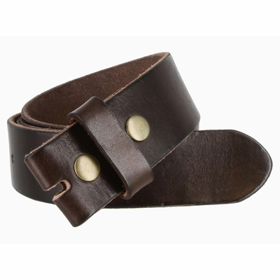 "5040 Vintage Full Grain Leather Belt Strap 1 1/2"" Wide - BROWN"