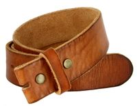 "5040 Vintage Full Grain Leather Belt Strap 1 1/2"" Wide - TAN"