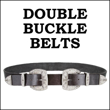 DOUBLE BUCKLE LEATHER BELTS