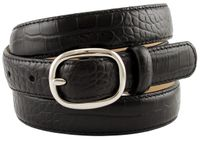 "7180 Women's Italian Leather Designer Dress Belt 1"" Wide - BLACK"