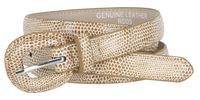 "Women's Skinny Snakeskin Embossed Genuine Leather Dress Belts 3/4"" or 19mm - Tan"