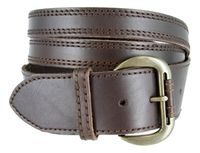 6601 Women's Crossing Straps Belt - Brown