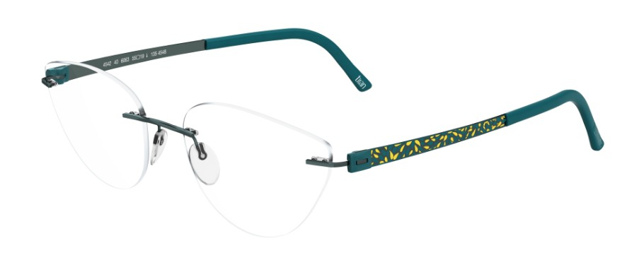 Silhouette Eyeglasses<br>Titan Accent Flora Edition Chassis 4548 Model 4542