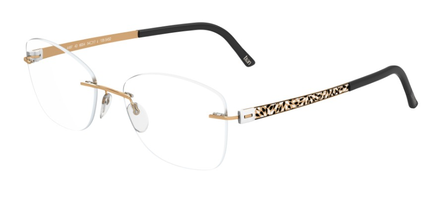 Silhouette Eyeglasses<br>Titan Accent Flora Edition Chassis 4548 Model 4545