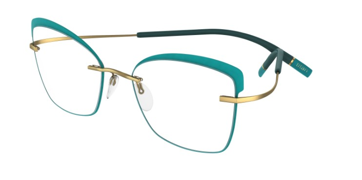 Silhouette Eyeglasses<br>Tma Icon Accent Rings Chassis 5518 Model FT