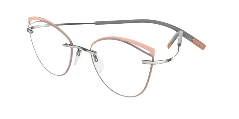 Silhouette Eyeglasses<br>Tma Icon Accent Rings Chassis 5518 Model FU