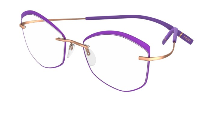 Silhouette Eyeglasses<br>Tma Icon Accent Rings Chassis 5518 Model FW