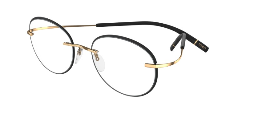 Silhouette Eyeglasses<br>Tma Icon Accent Rings Chassis 5518 Model FZ