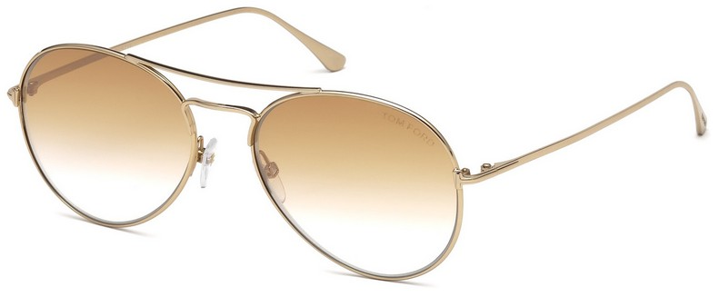 New Tom Ford FT 0551 ACE-02 18Z Shiny Rhodium Sunglasses