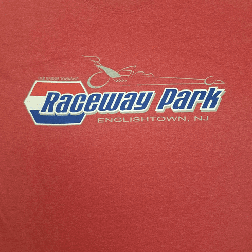 RACEWAY PARK DRAGSTER LOGO HEATHER RED