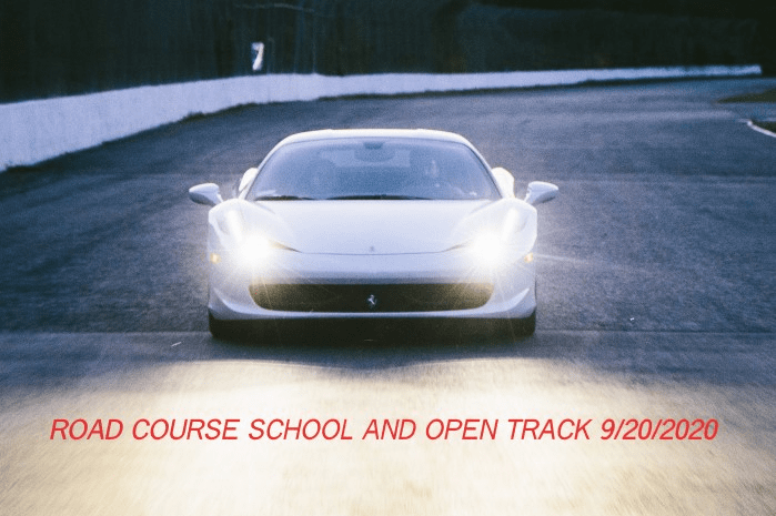 ROAD COURSE SCHOOL 9/20/2020 *SOLD OUT