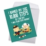 Funny Birthday Jumbo Card From NobleWorksCards.com - 10,000 Steps image 2