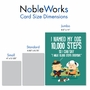 Funny Birthday Jumbo Card From NobleWorksCards.com - 10,000 Steps image 4