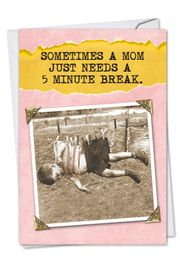 5 Minute Break Card