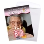 Hysterical Milestone Birthday Jumbo Greeting Card From NobleWorksCards.com - 80 Years Old and Hot image 3